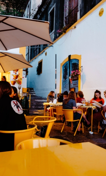 Welcome Social at an Outdoor Terrace
