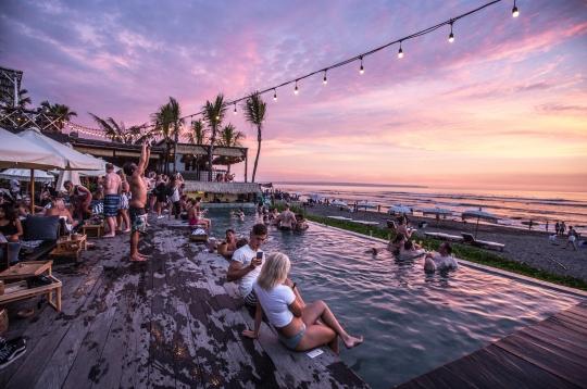 Omnia nightclub Bali beach resort party nightlife